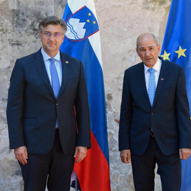 Andrej Plenković i Janez Janša u Otočcu Ob Krki