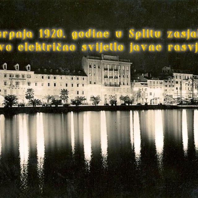 15. srpnja 1920. zasjala je prva električna rasvjeta u Splitu