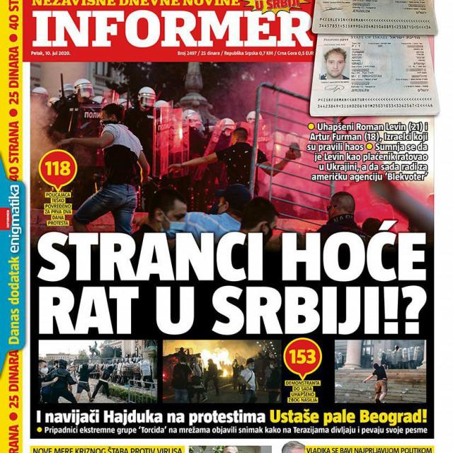 naslovnica Informera ovog petka