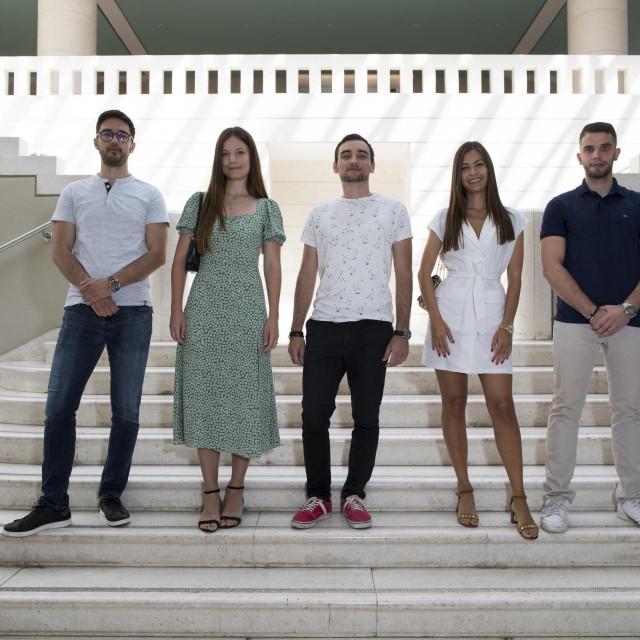 Marko Milas, Nina Novak Krešo, Karlo Topić, Ana Miljak i Matteo Hajder