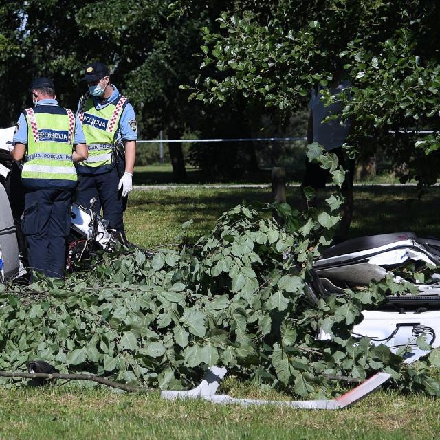 Očevid prometne nesreće na zagrebačkom Jarunu