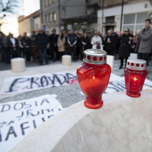 Prizor s mimohoda Pravda za sve, potaknutog tragičnim događajem u Splitu