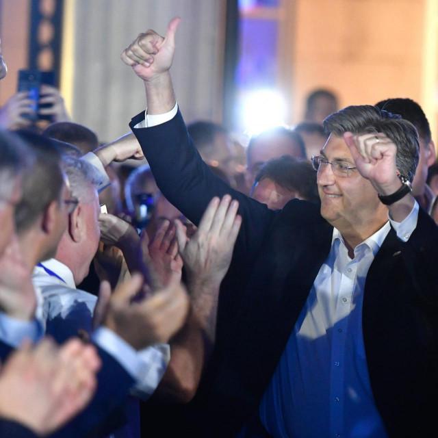 Plenković u noći izbornog trijumfa