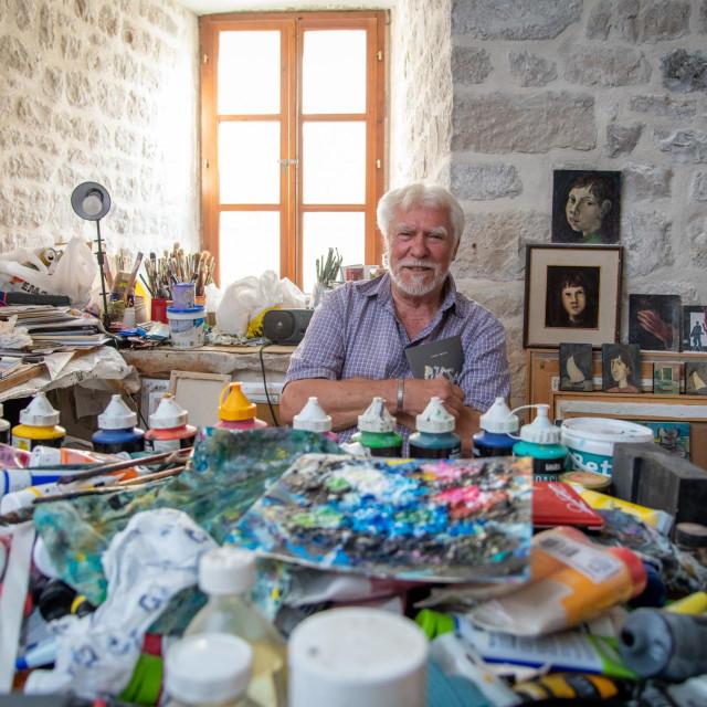 Josip Škerlj u svom ateljeu