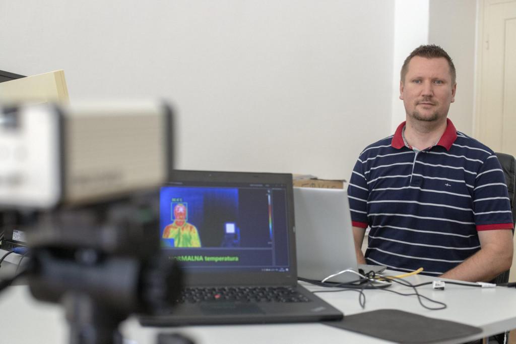 Bernard Toplak iz tvrtke ExaByte koja ima software za termo kamere
