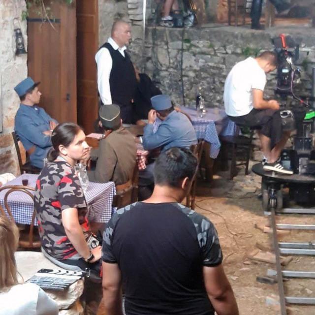 Detalj sa snimanja 'Jugoslovenke' na Humcu