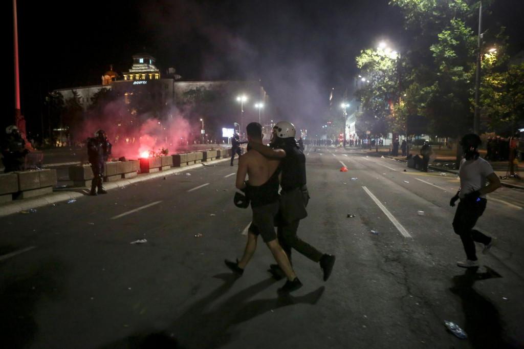 Prizor s beogradskih ulica tijekom prosvjeda
