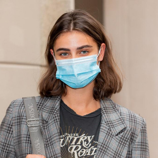 Taylor Hill attends the Etro fashion show during Milan Digital Fashion Week on July 15, 2020 in Milan, Italy