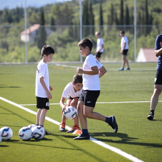 Trening Nogometne akademije Konavle foto: Božo Radić/HANZA Media