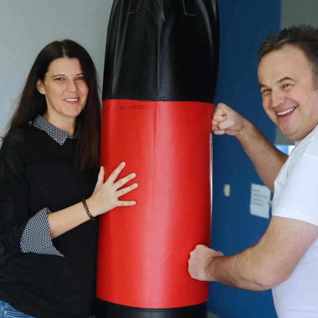 Siniša sa suprugom Sandom snimljen krajem prošle godine u njezinom fitness centru u Imotskom