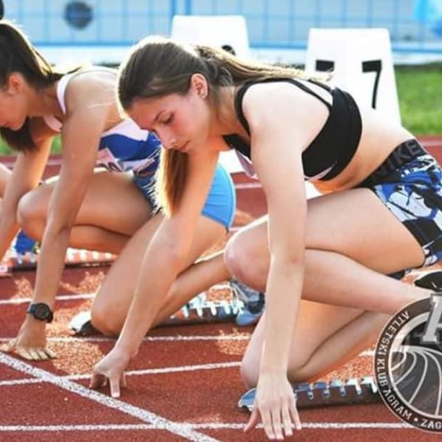 Matea Čerina je 100 metara istrčala za 12.24 sekunde i postala prvakinja Hrvatske
