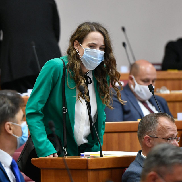 Detalj s konstituirajuće sjednica novog, desetog saziva Hrvatskog sabora<br />