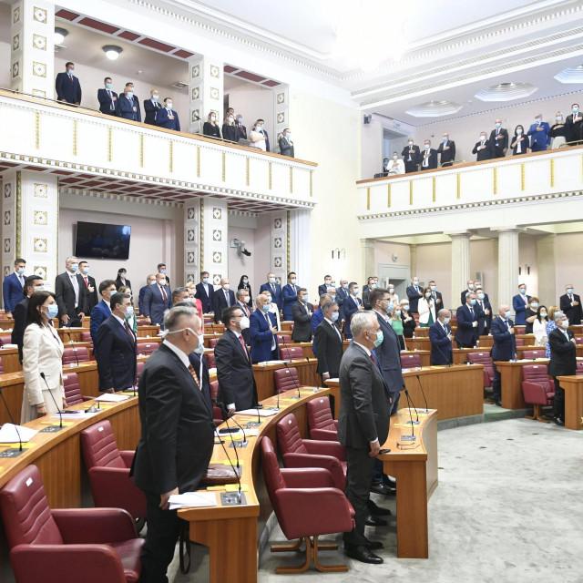 Konstituirajuca sjednica novog 10.saziva Hrvatskog sabora.<br />
