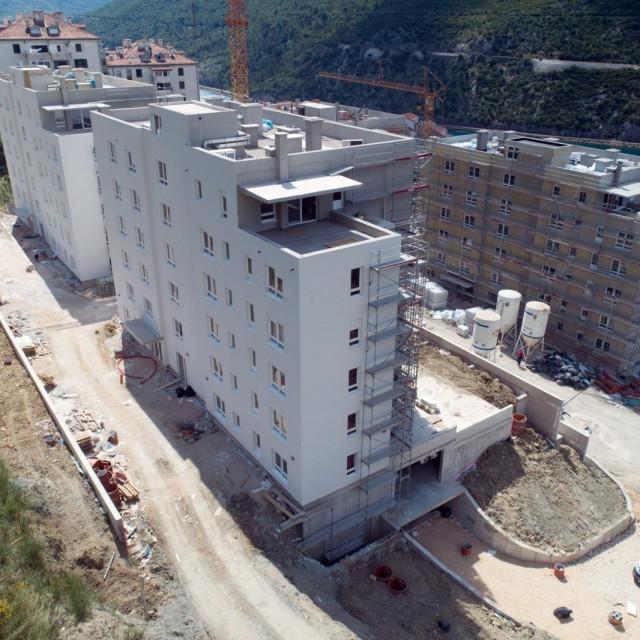 zgrade HRVI, Mokošica, ilustracija gradilišta