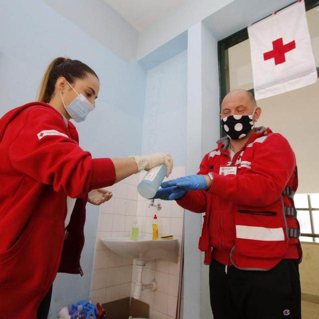 Volonterski centar bio je smješten u srednjoj školi