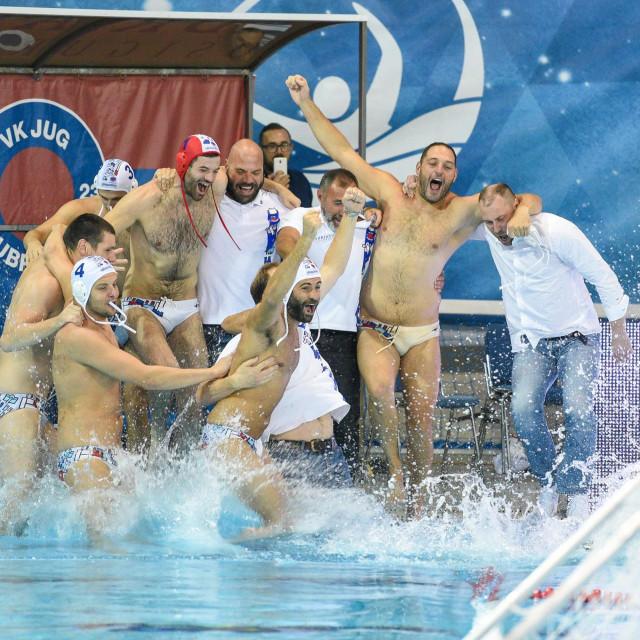 Jug Adriatic osiguranje slavi naslov prvaka Hrvatske foto:Tonči Plazibat / CROPIX