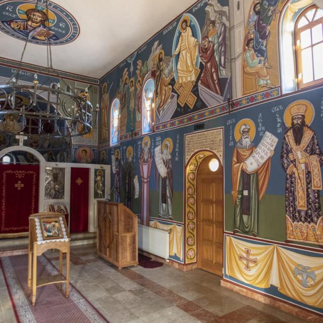 Interijer crkve manastira Dragović