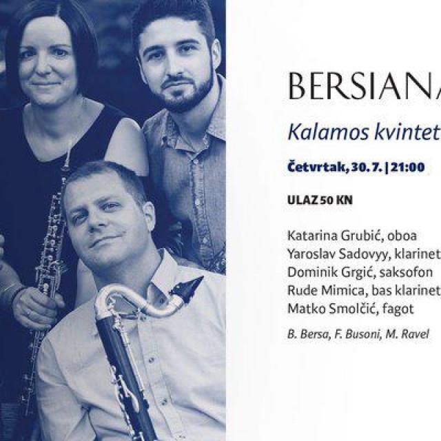 U četvrtak, 30. srpnja koncert kvinteta Kalamos u 21 sat nastupiti u crkvi sv. Nikole