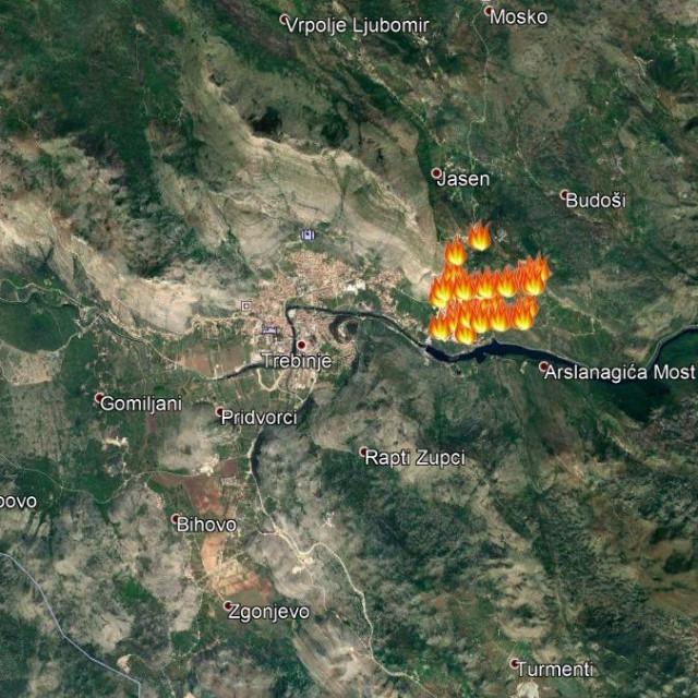 Veliki šumski požar u Trebinju