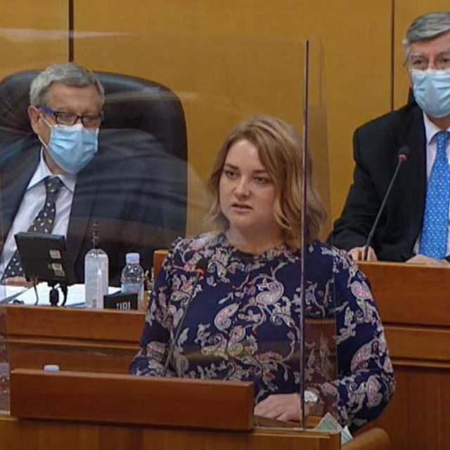Anja Šimpraga govori u Saboru
