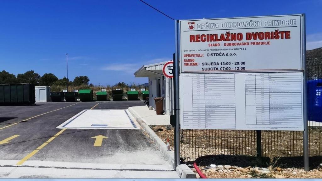 Reciklažno dvorište u Banićima u Općini Dubrovačko primorje počinje s radom od 1. kolovoza