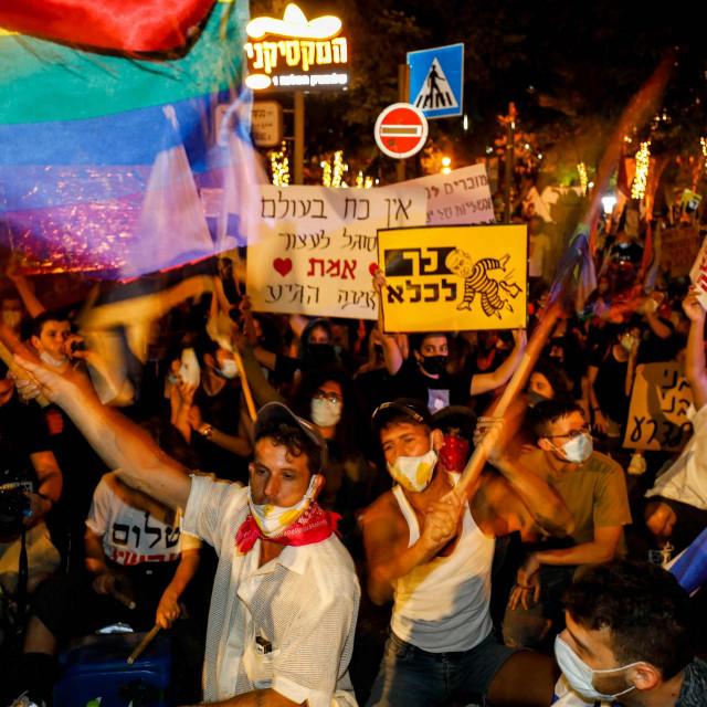 Prosvjed ispred rezidencije izraelskog premijera