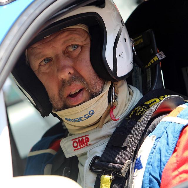 Maro Franić, član Dubrovnik Racinga, na međunarodnoj brdskoj auto utrci Kotor Trojica 2018. godine foto: Tonči Vlašić