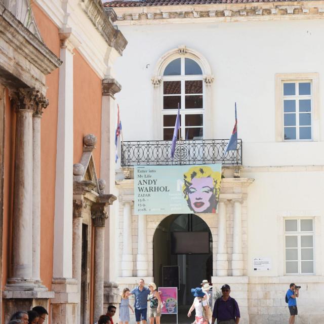 Zadar, 190818.<br /> Knezeva palaca. Izlozba pod nazivom Andy Warhol: Enter Into My Life.<br />