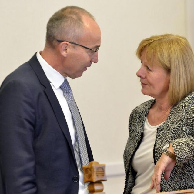 Željka Antunović s Damirom Krstičevićem