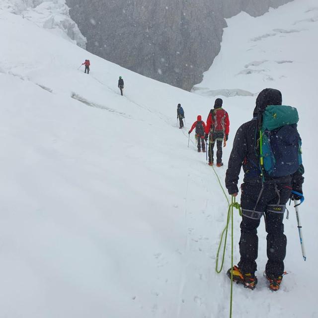 Ledenjak na Monte Rosi