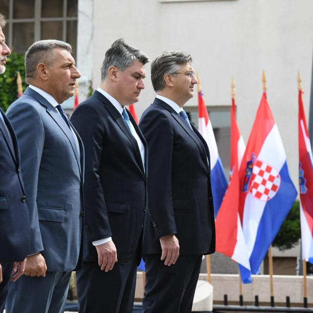 Na fotografiji: Gordan Jandrokovic, Ante Gotovina, Zoran Milanovic, Andrej Plenkovic.<br />