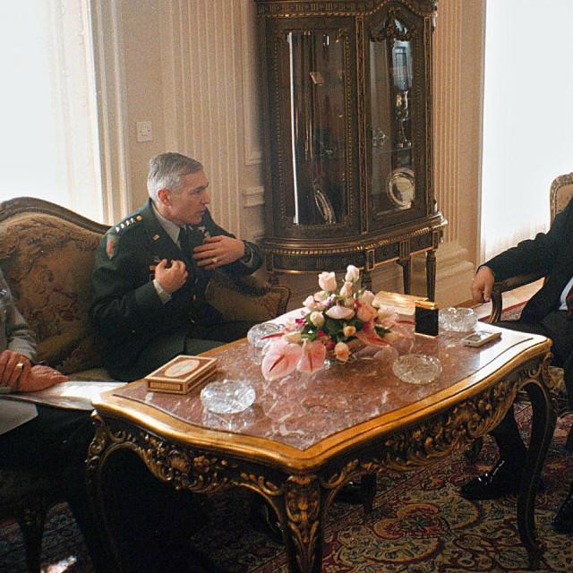 General Wesley Clark sa Slobodanom Miloševićem<br />