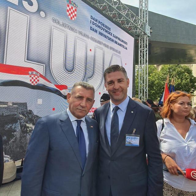 Gradonačelnik Mato Franković i general Ante Gotovina u Kninu