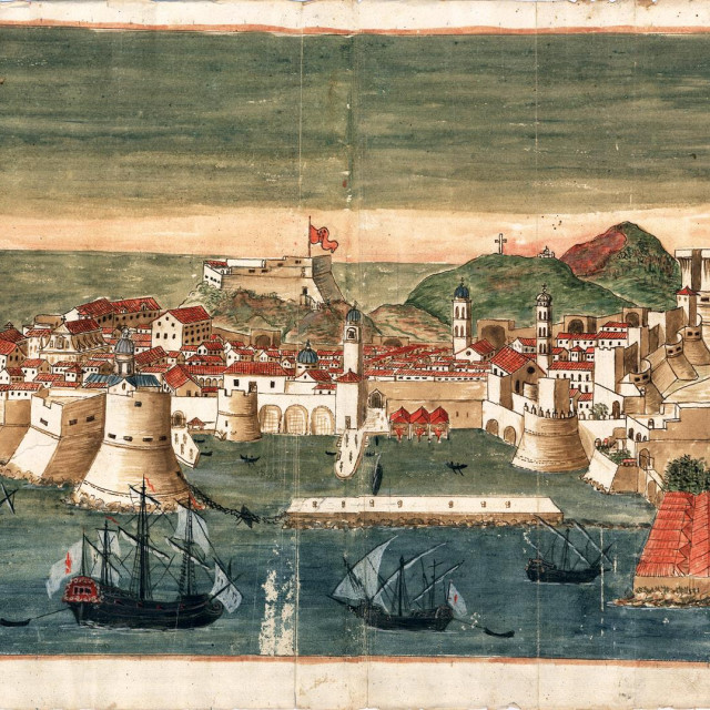 Prikaz Dubrovnika s Lazaretima iz 18. stoljeća<br />