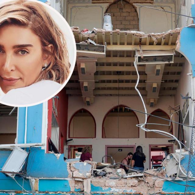 Eksplozija je uništila cijelu prednju stranu njenog stana, a prozori su izbačeni iz ležišta