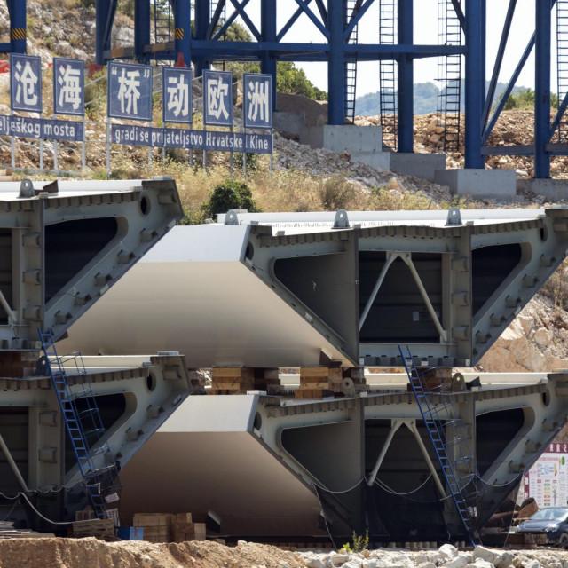 : Gradiliste Peljeskog mosta.<br />