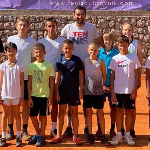 Pobjednik US Opena, finalist Wimbledona i Australian Opena, Marin Čilić s malim tenisačima Raguse