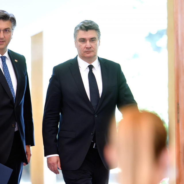 Premijer Andrej Plenković i predsjednik RH Zoran Milanović<br /> <br /> <br />