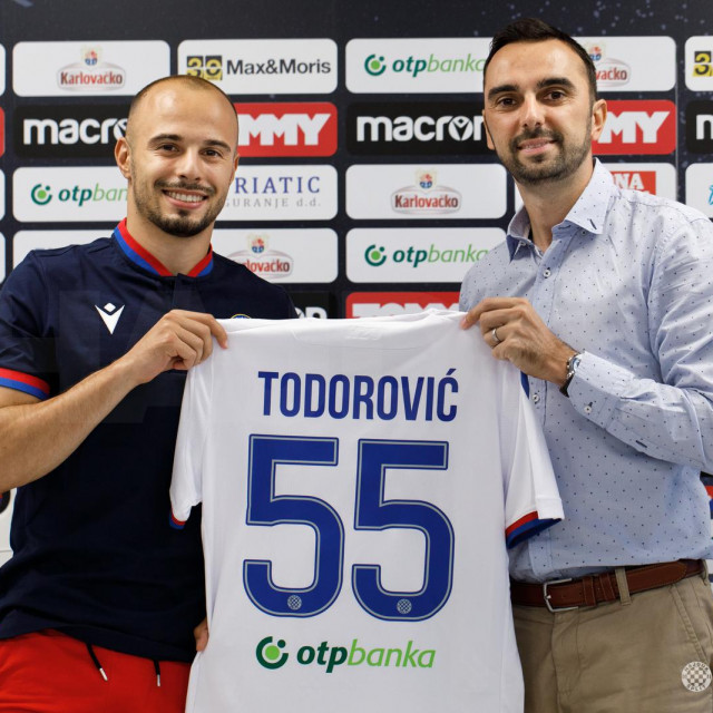 Todorović će nositi dres s brojem 55