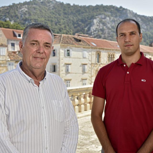 Gradonačelnici Hvara Rikardo Novak (lijevo) i Starog Grada Antonio Škarpa (desno)