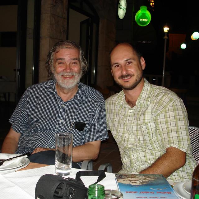 Tonko Maroević i Siniša Vuković u Selcima 2007. godine
