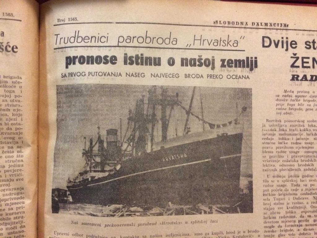 """Priča o parobrodu """"Hrvatska"""" čiji su pomorci imali zadatak """"preodgoja"""" iseljenika zaluđenih Staljinom"""