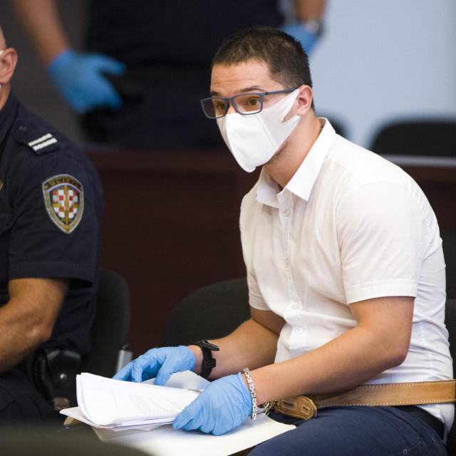 Filip Zavadlav u sudnici, drugi dan suđenja