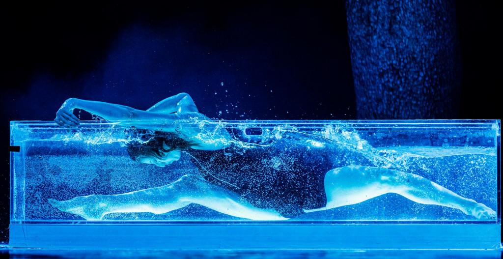 Čast da uroni u mističnu plavu vodu na pozornici pripala je prvakinji Irini Čaban Bilandžić, a ona je samo od te točke napravila cijelu priču