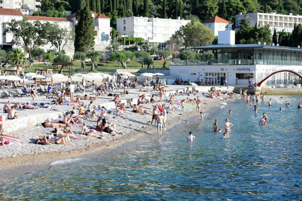 Plaža, kupači, Uvala Lapad, kupanje, Dubrovnik