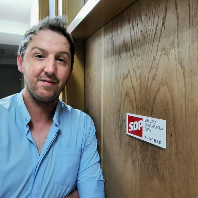 Saša Šimunović, predsjednik Gradske organizacije SDP-a Vrgorac