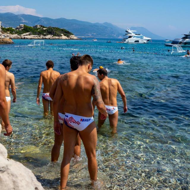 Hrvatski vaterpolski reprezentativci su bili na mini pripremama u Korčuli