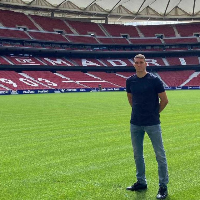 Ivo Grbić na stadionu Atletica Wanda Metropolitano