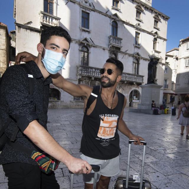 Reda Sadaigui i Ignatio, turisti iz Španjolske.