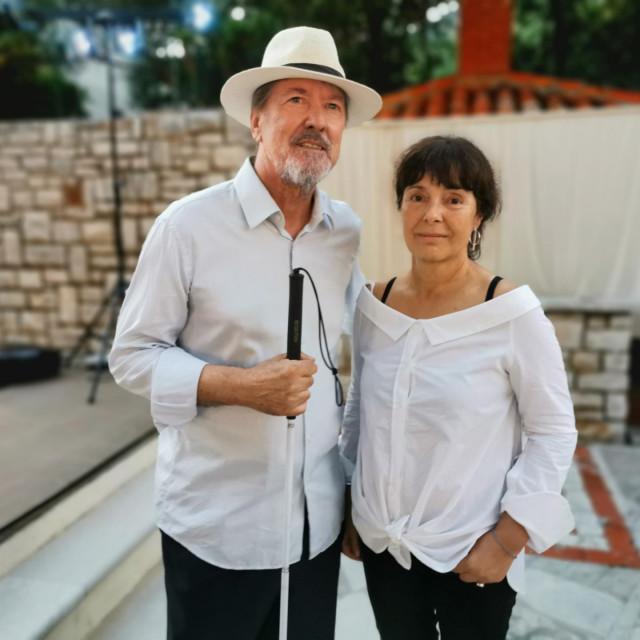 Autor Vinko Brešković i Maja Duka, urednica knjige